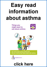 Image of easy read information about asthma