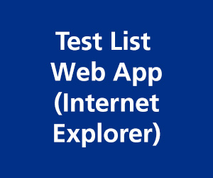 Test List web app (internet explorer)