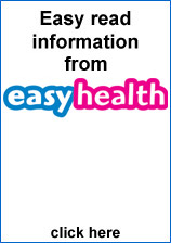 Image of easy read information on easyhealth