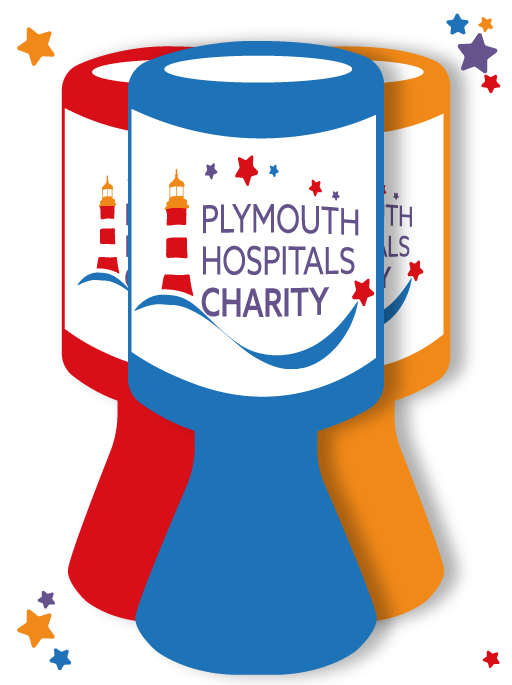 illustration of a Plymouth Hospitals Charity Tin