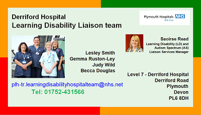 Learning Disability Liaison Team Business Card
