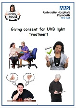 Consent for UVB light treatment easy read leaflet