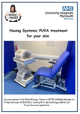 Systemic PUVA treatment easy read leaflet