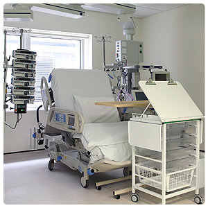 A bay in the ICU