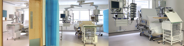 Rooms on the intensive care unit