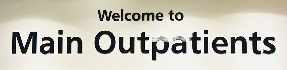 Picture of main outpatients sign