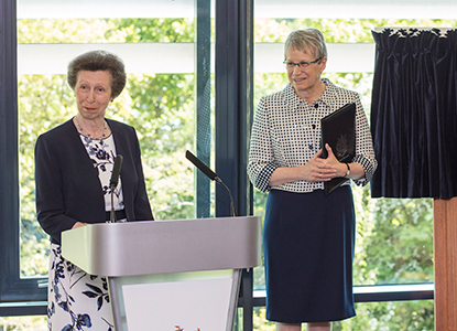 HRH Princess Anne at the Derriford Research Facility