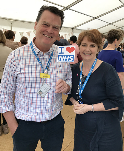 Ann James and Nick Thomas, Chief Exec and Deputy, at our #NHS70 Pride of Plymouth NHS Awards
