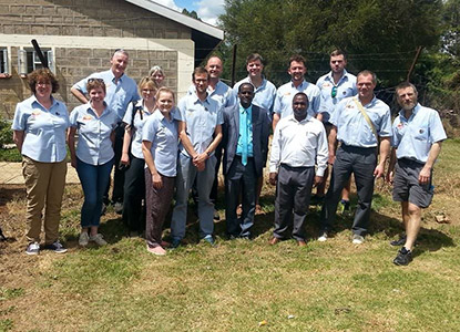 The team out in Kenya