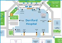 A map of the Derriford Hospital site