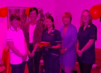From left: Wife of the late Dr Steve Kelly, former patient Joanna Terrell, Rachel Wood, Sue Hobbs, Kate Lansdell