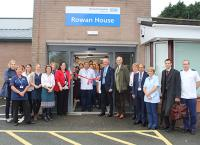Staff and patients gather together for the opening of Rowan House