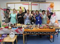 The Halloween-themed cake sale